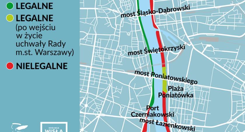 Gdzie Nad Wisla Mozna Pic Piwo Mapa Warszawa Srodmiescie